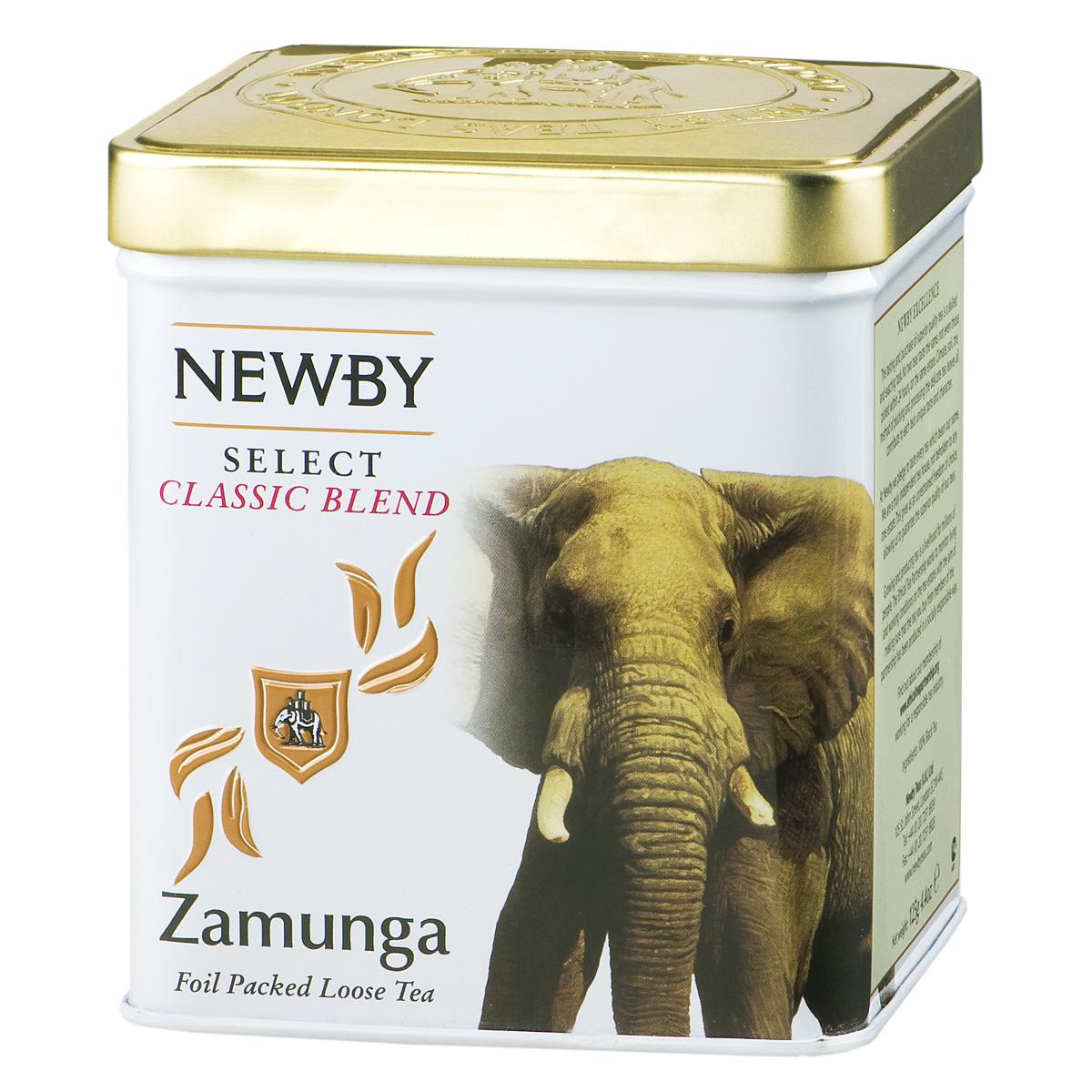 Newby Zamunga черный листовой чай, 125 гTALTHA-BP0013Newby Zamunga - особый купаж крупнолистового чая с золотистыми и серебряными типсами. Ароматная и яркая чашка со сладким мускатным послевкусием и некоторой терпкостью.