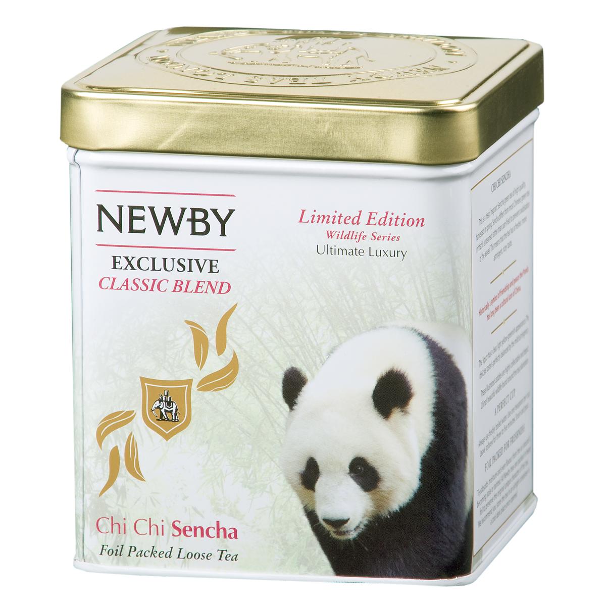 Newby Chi Chi Sencha зеленый листовой чай, 125 г0905-08Традиционный зеленый чай Newby Chi Chi Sencha весеннего сбора. Светлый настой со свежим рисовым ароматом. Панда Чи Чи - китайский символ мира и дружбы.
