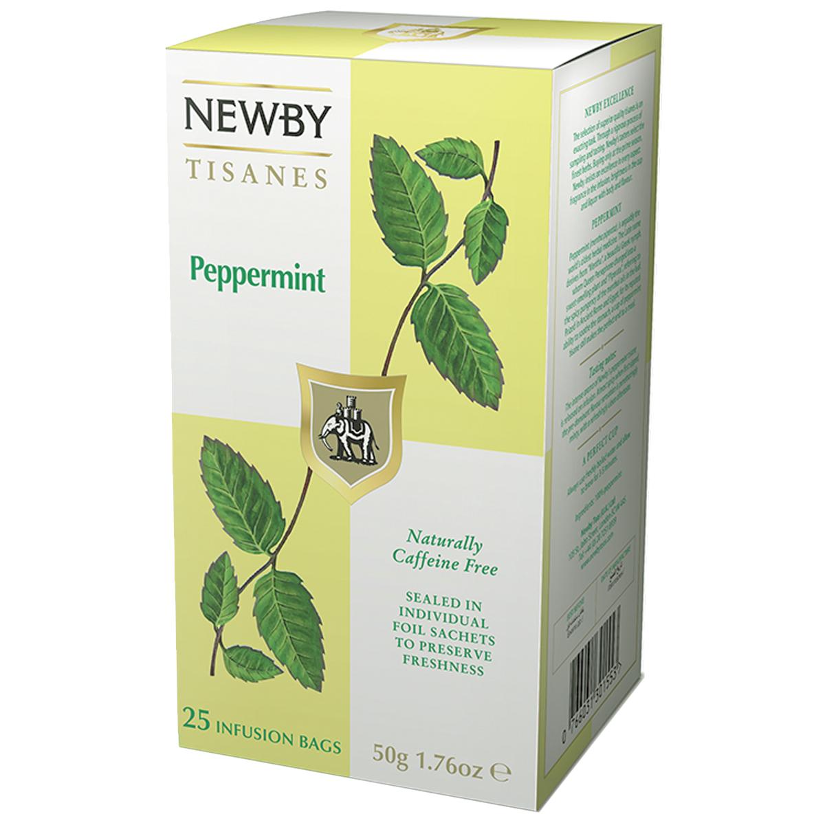 Newby Peppermint травяной чай в пакетиках, 25 штTALTHA-L00004Чай Newby Peppermint - это невероятно освежающий напиток из марокканской мяты, который успокоит и придаст сил в любое время дня.