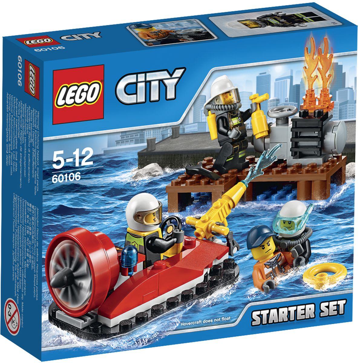 LEGO City Конструктор Пожарная охрана 60106 lego city конструктор внедорожник каскадера 60146