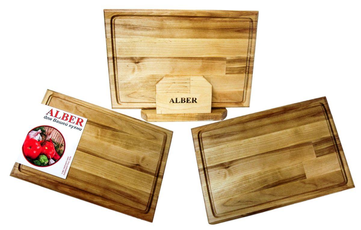 Набор досок разделочных Alber Прямоугольник, 3 шт888230_красныйПрочные, гладкие, с естественной березовой текстурой, доски обработаны льняным маслом для предохранения от рассыхания. Изделия имеют индивидуальную пленочную упаковку и оригинальную гравировку - нельзя мыть деревянную доску в посудомоечной машине, а также оставлять надолго погруженной в воду. После каждого использования нужно промыть доску мыльной водой, тщательно сполоснуть проточной водой и вытереть насухо. Заменять разделочную доску на кухне рекомендуется 1 раз в год.В наборе 3 разделочные доски.Размер каждой доски: 24 х 18 х 1,8 см.