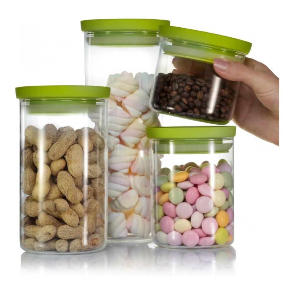 Банка для хранения Walmer Kristel, цвет:прозрачный, салатовый, 1,5 лVT-1520(SR)Банка для хранения Walmer Kristel изготовлена из высококачественного стекла. Банка плотно закрывается пластиковой крышкой. Силиконовая прослойка обеспечивает герметичность и долгое хранение продуктов, а также защищает от попадания влаги. В такой банке удобно хранить сыпучие продукты, например, крупы, сахар, орехи, макароны или сухофрукты. Банка станет отличным дополнением к коллекции кухонных аксессуаров и поможет эффективно организовать пространство на кухне.