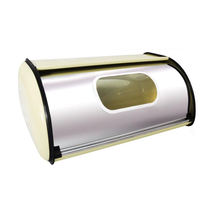 Хлебница Mayer & Boch, с окошком, 34 см х 22 см х 15 смМ 1181Классическая хлебница Mayer&Boh, изготовленная из нержавеющей стали, поможет надолго сохранить ваш хлеб свежим. Крышка хлебницы, не занимает дополнительного места для открытия, легко и бесшумно открывается и закрывается. Верхняя часть хлебницы плоская, благодаря этому ее можно использовать в качестве полки для баночек. Также на крышке есть специальное прозрачное окошко из стекла.Яркий дизайн, эстетичность и функциональность сделают хлебницу превосходным аксессуаром на вашей кухне.