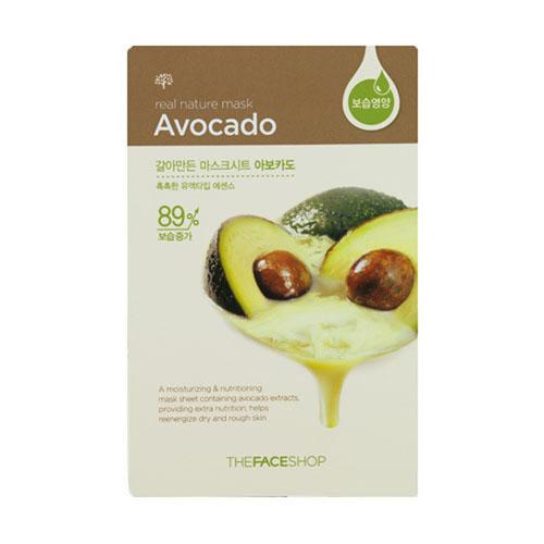The Face Shop Тканевая маска для лица авокадо REAL NATURE , 20 г72523WDТканевые маски на основе природных ингредиентов сравнимые по эффекту с сывороткой.Авокадо - Богат витамином Е, энзимами и микроэлементами. Глубоко питает и увлажняет кожу. Имеет антиоксидантный и успокаивающие эффекты. Нейтрализует токсичные вещества из окружающей среды, негативно воздействующие на кожу.