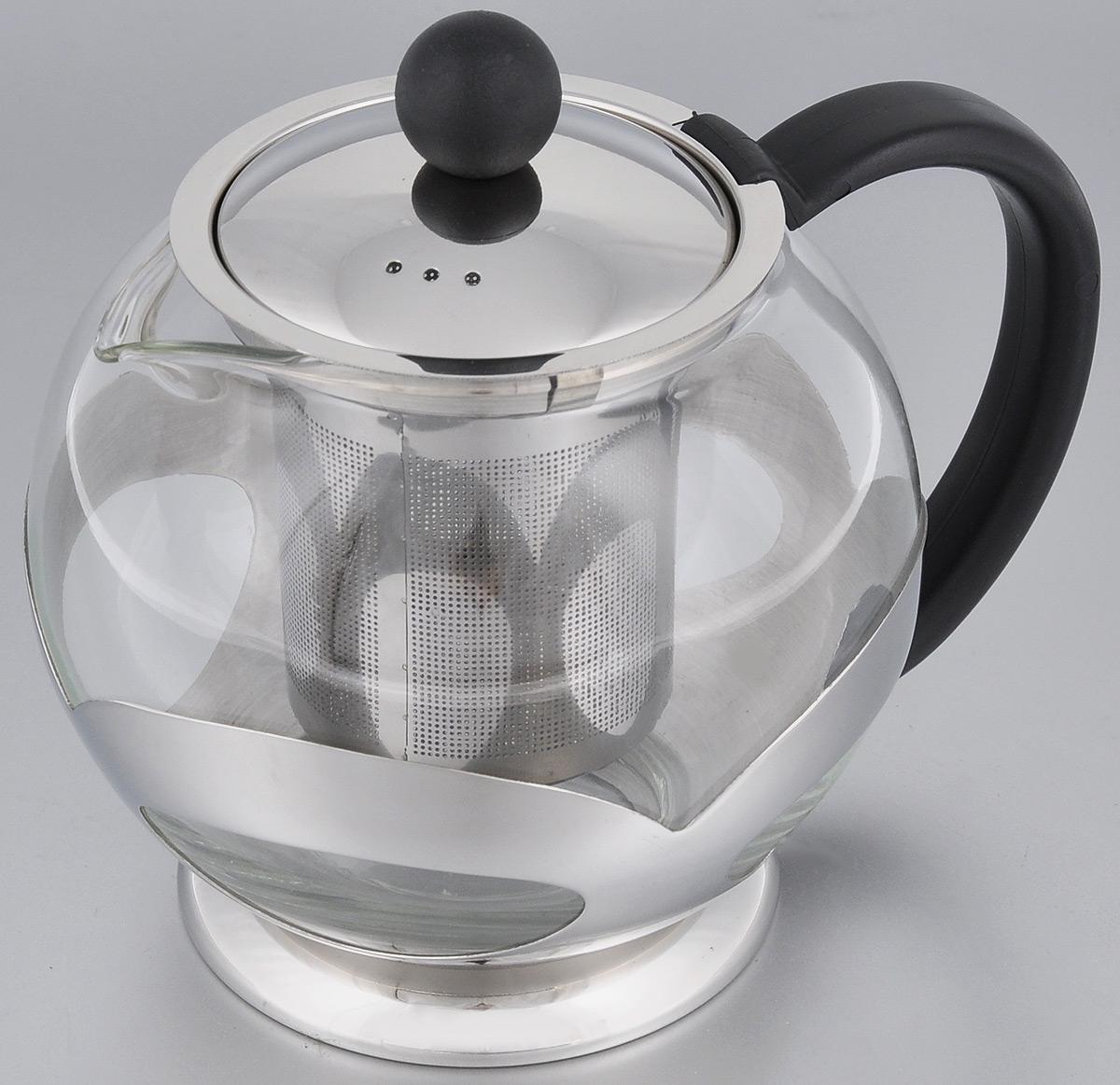 Чайник заварочный Miolla, с фильтром, 750 мл115510Заварочный чайник Miolla, изготовленный из термостойкого стекла, предоставит вам все необходимые возможности для успешного заваривания чая. Чай в таком чайнике дольше остается горячим, а полезные и ароматические вещества полностью сохраняются в напитке. Чайник оснащен фильтром, который выполнен из нержавеющей стали. Простой и удобный чайник поможет вам приготовить крепкий, ароматный чай.Нельзя мыть в посудомоечной машине. Не использовать в микроволновой печи.Диаметр чайника (по верхнему краю): 7,5 см.Высота чайника (без учета крышки): 11,5 см.Высота фильтра: 8 см.