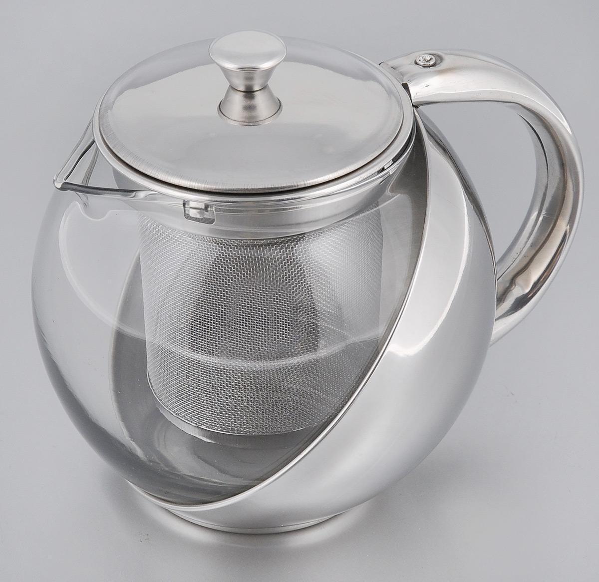 Чайник заварочный Miolla, с фильтром, 500 мл54 009312Заварочный чайник Miolla, изготовленный из термостойкого стекла,предоставит вам все необходимые возможности для успешного заваривания чая.Чай в таком чайнике дольше остается горячим, а полезные и ароматическиевещества полностью сохраняются в напитке. Чайник оснащен фильтром, выполненном из нержавеющей стали. Простой и удобный чайник поможет вам приготовить крепкий, ароматный чай.Нельзя мыть в посудомоечной машине. Не использовать в микроволновой печи.Диаметр чайника (по верхнему краю): 7 см.Высота чайника (без учета крышки): 10 см.Высота фильтра: 8 см.