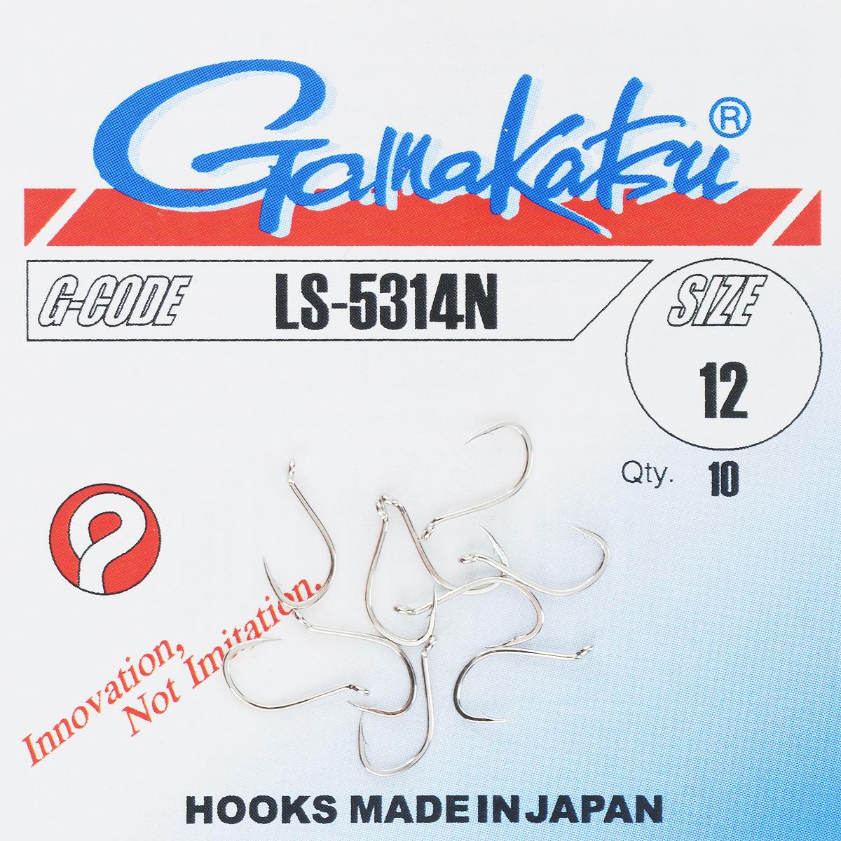 Набор крючков Gamakatsu, размер №12, 10 шт