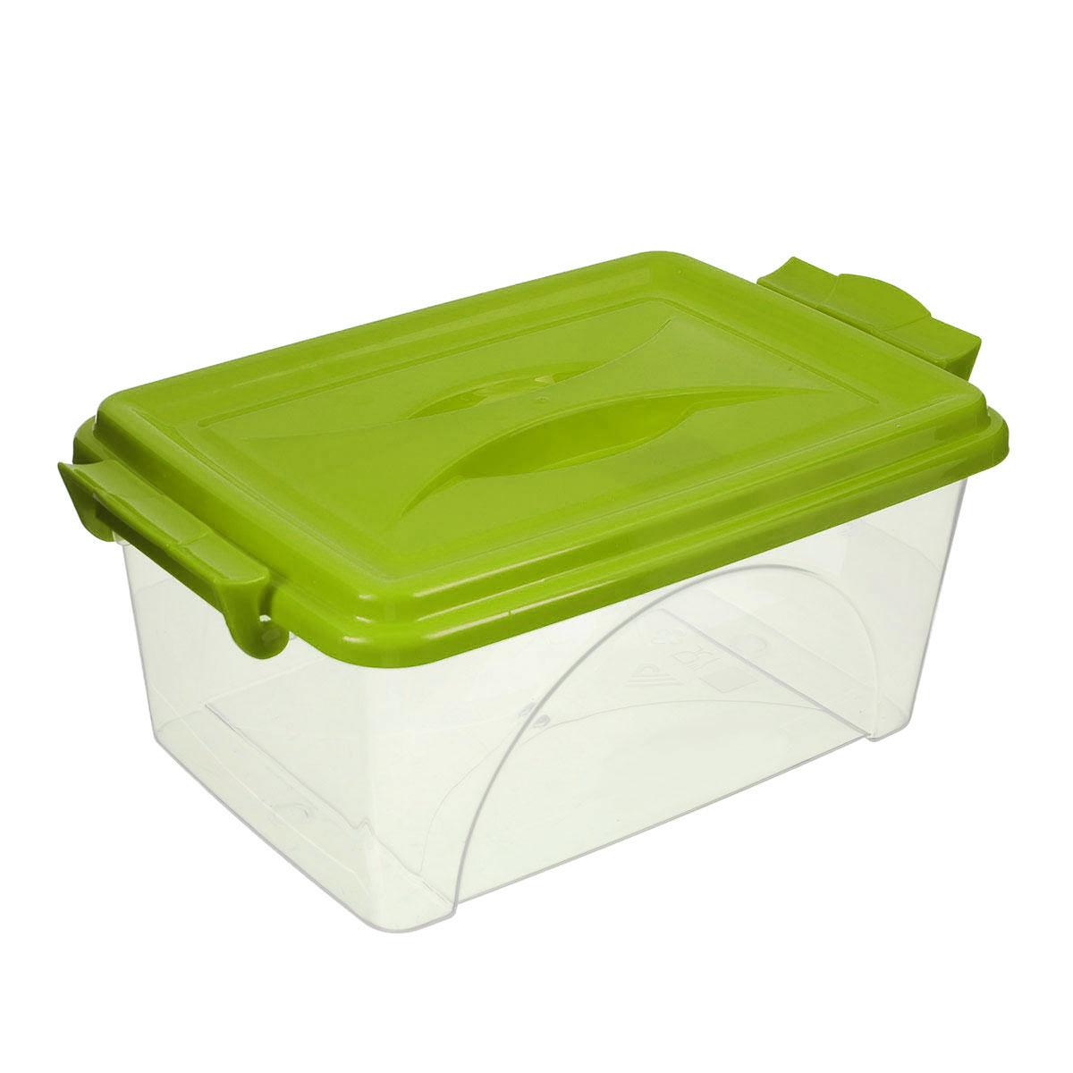 Контейнер Альтернатива, цвет: прозрачный, салатовый, 2,5 л74-0120Контейнер Альтернатива выполнен из прочного пластика. Он предназначен для хранения различных мелких вещей. Крышка легко открывается и плотно закрывается. Прозрачные стенки позволяют видеть содержимое. По бокам предусмотрены две удобные ручки, с помощью которых контейнер закрывается.Контейнер поможет хранить все в одном месте, а также защитить вещи от пыли, грязи и влаги.Размер с учетом крышки: 25 см х 16,5 см х 13,5 см.Размер без учета крышки: 24,5 см х 16,5 см х 10,5 см.