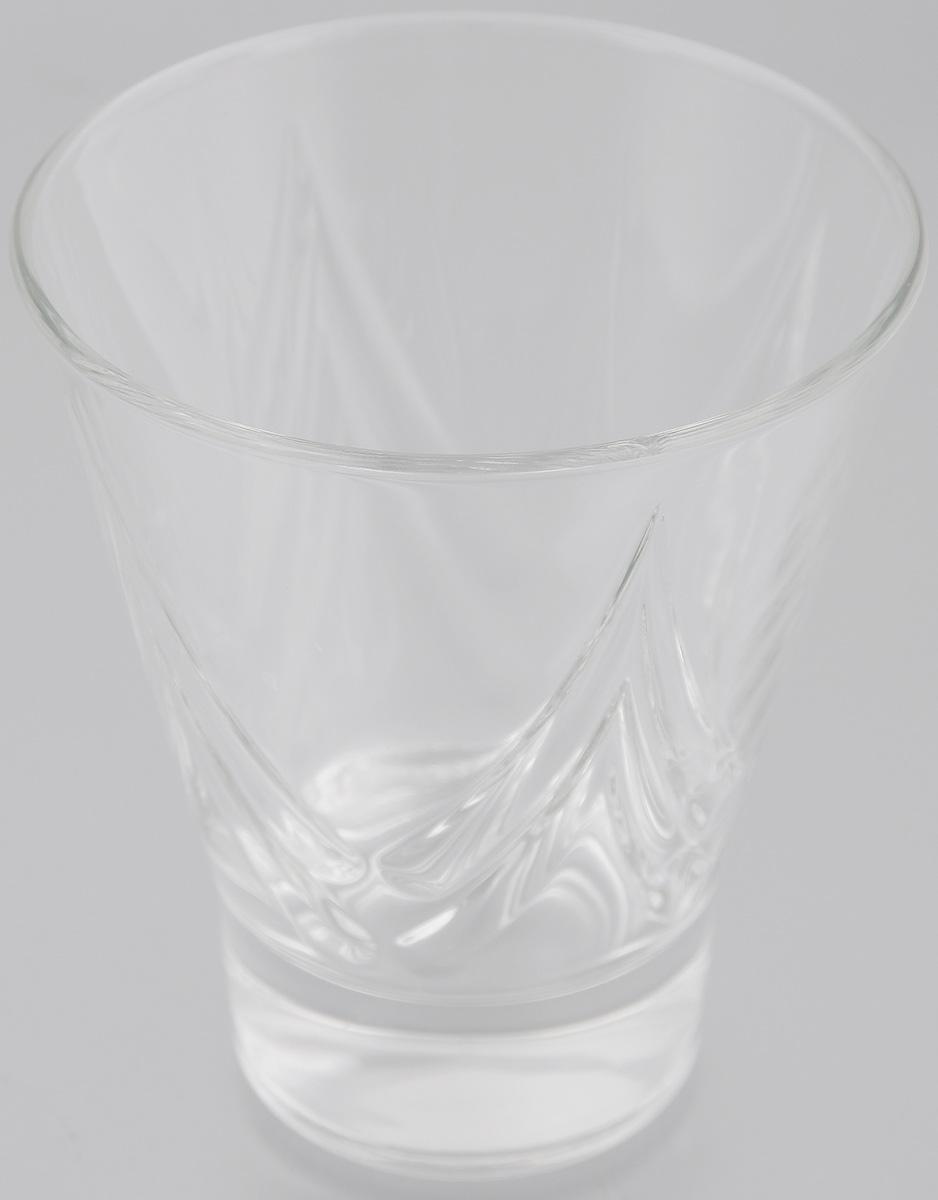 Стакан OSZ Bell Призма, цвет: прозрачный, 250 млVT-1520(SR)Стакан OSZ Bell Призма изготовлен из бесцветного стекла и украшен рельефными гранями. Идеально подходит для сервировки стола.Стакан не только украсит ваш кухонный стол и подчеркнет прекрасный вкус хозяйки. Диаметр стакана (по верхнему краю): 9 см. Диаметр основания: 5 см. Высота стакана: 10,5 см.