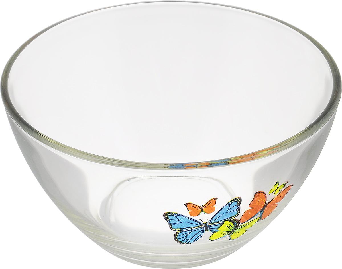 Салатник OSZ Танец бабочек, диаметр 13 см-синий/оранжевый/жёлтый54 009312Салатник OSZ Танец бабочек изготовлен из бесцветного стекла и украшен ярким рисунком. Идеально подходит для сервировки стола.Салатник не только украсит ваш кухонный стол и подчеркнет прекрасный вкус хозяйки, но и станет отличным подарком. Диаметр салатника (по верхнему краю): 13 см. Диаметр основания: 6 см. Высота салатника: 7 см.