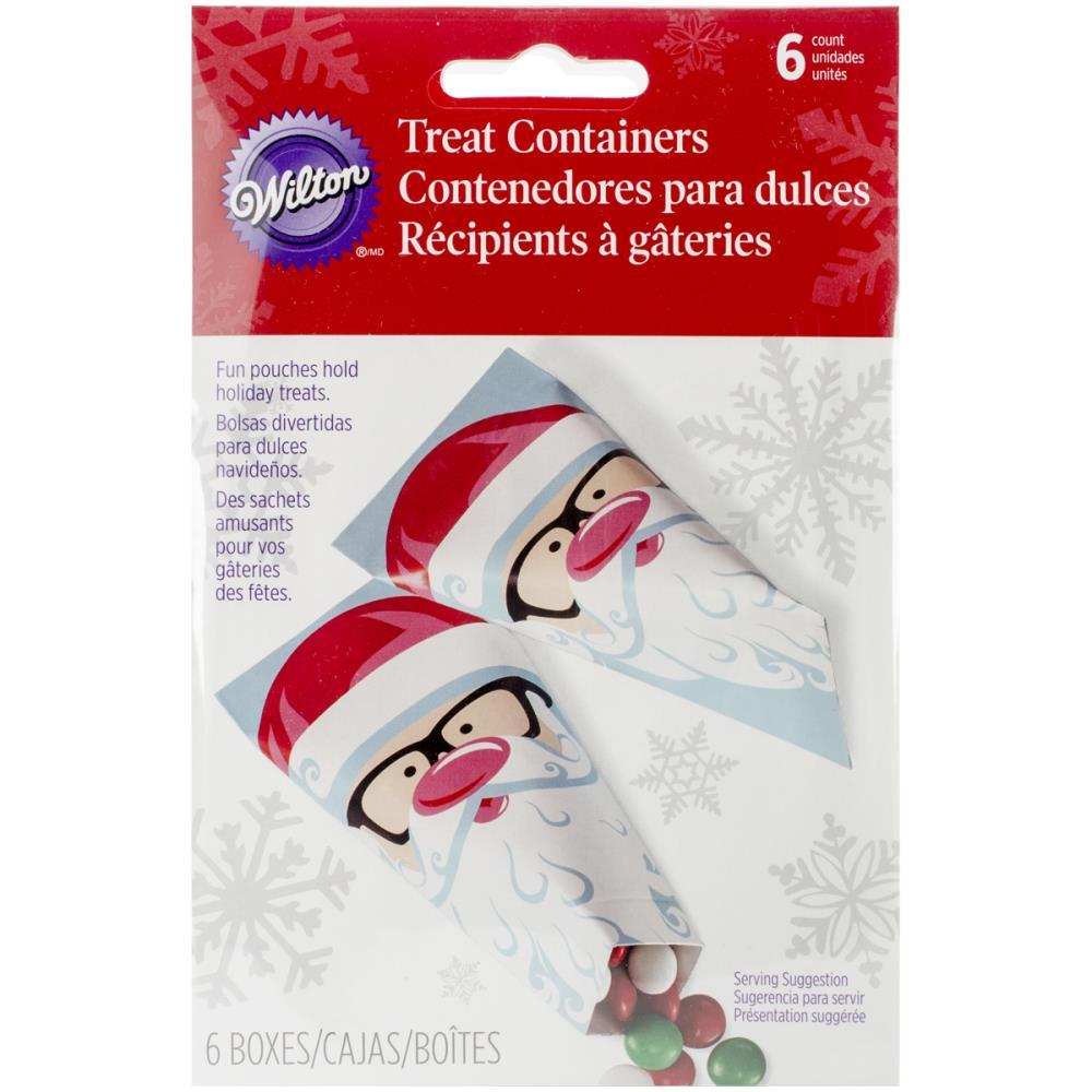 Набор бумажных пакетов для сладостей Wilton Санта, 6,5 х 12,5 см, 6 штNLED-454-9W-BKНабор Wilton Санта состоит из 6 бумажных пакетов для сладостей. Изделия украшены смешным изображением Санта Клауса с розовым носом и в очках. Такие пакеты прекрасно подойдут для драже и конфет M&MS. Сладости в красивой упаковке станут прекрасным дополнением к новогоднему подарку и вызовут радость у получателя.