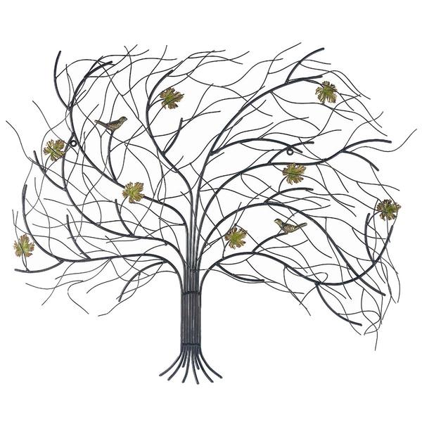 Декор настенный Gardman Дерево на ветру, 75 х 62 см300194_белый/дом, продуктыНастенный декор Gardman Дерево на ветру изготовлен из стали в виде осеннего дерева с фигурками птичек и желтых листьев, пробуждающего воспоминания о прогулках в осеннем парке. Изделие сварено и обработано вручную. Вы можете повесить его на стену как картину. Настенный декор Gardman Дерево на ветру оригинально украсит ваш дом или сад и станет замечательным дизайнерским решением.