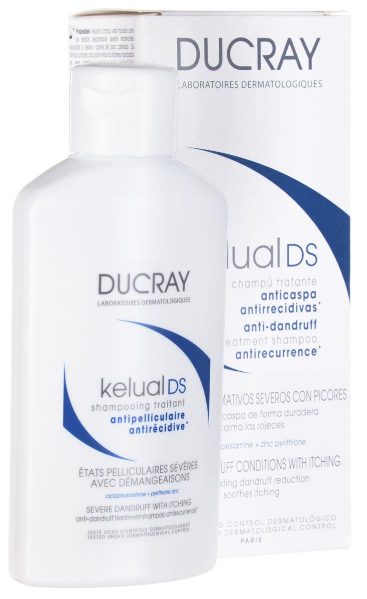 Ducray DS Шампунь Kelual для лечения тяжёлых форм перхоти 100млC05123Надолго устраняет умеренную и сильно выраженную перхоть. Устраняет зуд и покраснения.Длительно устраняет перхоть, очищает кожу головы