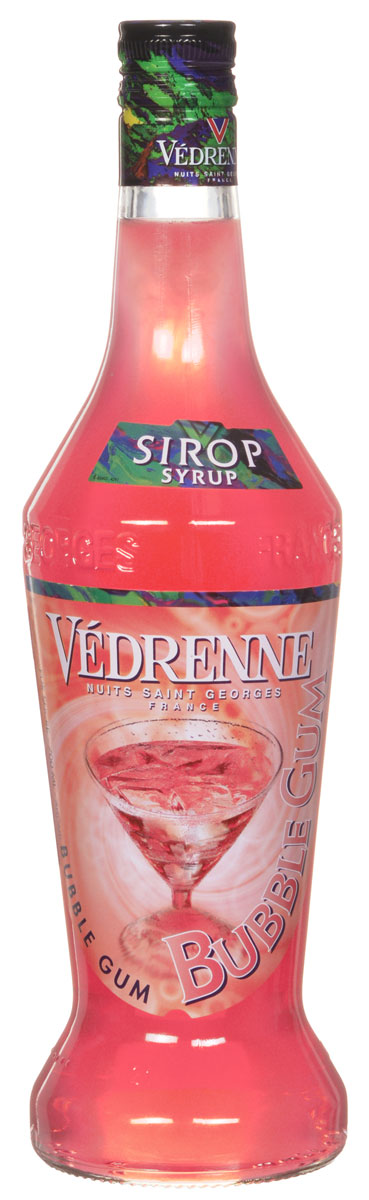 Vedrenne Баббл Гам сироп, 0,7 л101246Сироп Баббл Гам подарит вам неповторимые воспоминания о беззаботном детстве. Баббл гам известна во всем мире как жевательная резинка, которая состоит из желатиновой основы с различными вкусами.Сироп Баббл Гам представляет собой розовую густую консистенцию, которая отличается повышенным содержанием сахара (от 40% до 80%). Кроме того, в это лакомство входит экстракт жевательной резинки, который придает насыщенный вкус.Сироп Баббл Гам идеально сочетается с лимонадом, содовой, холодным и горячим чаем, кофе, компотом, молочными коктейлями, йогуртом.Сиропы изготавливаются на основе натурального растительного сырья, фруктовых и ягодных соков прямого отжима, цитрусовых настоев, а также с использованием очищенной воды без вредных примесей, что позволяет выдержать все ценные и полезные свойства натуральных фруктово-ягодных плодов и трав. В состав сиропов входит только натуральный сахар, произведенный по традиционной технологии из сахарозы. Благодаря высокому содержанию концентрированного фруктового сока сиропы Vedrenne обладают изысканным ароматоми натуральным вкусом, являются эффективным подсластителем при незначительной калорийности. Они оптимизируют уровень влажности и процесс кристаллизации десертов, хорошо смешиваются с другими ингредиентами и способствуют улучшению вкусовых качеств напитков и десертов.Сиропы Vedrenne разливаются в стеклянные бутылки с яркими этикетками, на которых изображен фрукт, ягода или другой ингредиент, определяющий вкусовые оттенки того или иного продукта Vedrenne. Емкости с сиропами Vedrenne герметичны и поэтому не позволяют содержимому контактировать с микроорганизмами и другими губительными внешними воздействиями. Кроме того, стеклянные бутылки выглядят оригинально и стильно.В настоящее время компания Vedrenne считается одним из лучших производителей высококлассных сиропов, отличающихся натуральным вкусом, а также насыщенным ароматом и глубокимцветом. Фруктовые сиропы Vedrenne пользуются большой популярност