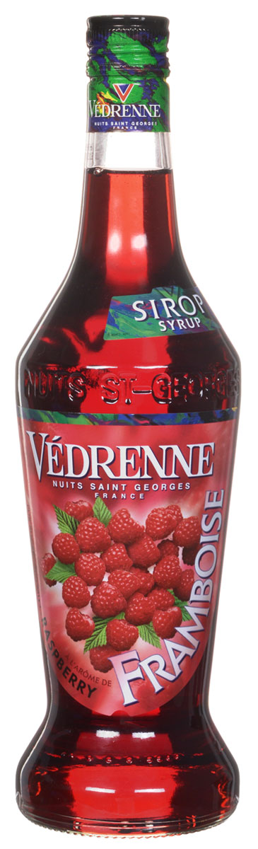 Vedrenne Малина сироп, 0,7 л101246В составе сиропа Малина нет консервантов и искусственных добавок, ведь готовят его из натуральных ингредиентов: ягодного сока, очищенной воды и сахара.Сиропы изготавливаются на основе натурального растительного сырья, фруктовых и ягодных соков прямого отжима, цитрусовых настоев, а также с использованием очищенной воды без вредных примесей, что позволяет выдержать все ценные и полезные свойства натуральных фруктово-ягодных плодов и трав. В состав сиропов входит только натуральный сахар, произведенный по традиционной технологии из сахарозы. Благодаря высокому содержанию концентрированного фруктового сока, сиропы Vedrenne обладают изысканным ароматом и натуральным вкусом, являются эффективным подсластителем при незначительной калорийности. Они оптимизируют уровень влажности и процесс кристаллизации десертов, хорошо смешиваются с другими ингредиентами и способствуют улучшению вкусовых качеств напитков и десертов.Сиропы Vedrenne разливаются в стеклянные бутылки с яркими этикетками, на которых изображен фрукт, ягода или другой ингредиент, определяющий вкусовые оттенки того или иного продукта Vedrenne. Емкости с сиропами Vedrenne герметичны, поэтому не позволяют содержимому контактировать с микроорганизмами и другими губительными внешними воздействиями. Кроме того, стеклянные бутылки выглядят оригинально и стильно.В настоящее время компания Vedrenne считается одним из лучших производителей высококлассных сиропов, отличающихся натуральным вкусом, а также насыщенным ароматом и глубоким цветом. Фруктовые сиропы Vedrenne пользуются большой популярностью не только во Франции (где их широко используют как в сегменте HoReCa, так и в домашних условиях), но и экспортируются более чем в 50 стран мира.Цвет: насыщенно рубиновыйАромат: изящный, душистый аромат раскрывается нотами спелой малиныВкус: сочный, сладкий, ягодный, с яркими тонами малиныРецепт коктейля Малиновый ЛимонадИнгредиенты:20 мл сиропа Vedrenne Малина;200 мл содовой;50 г лайма;1 г мяты