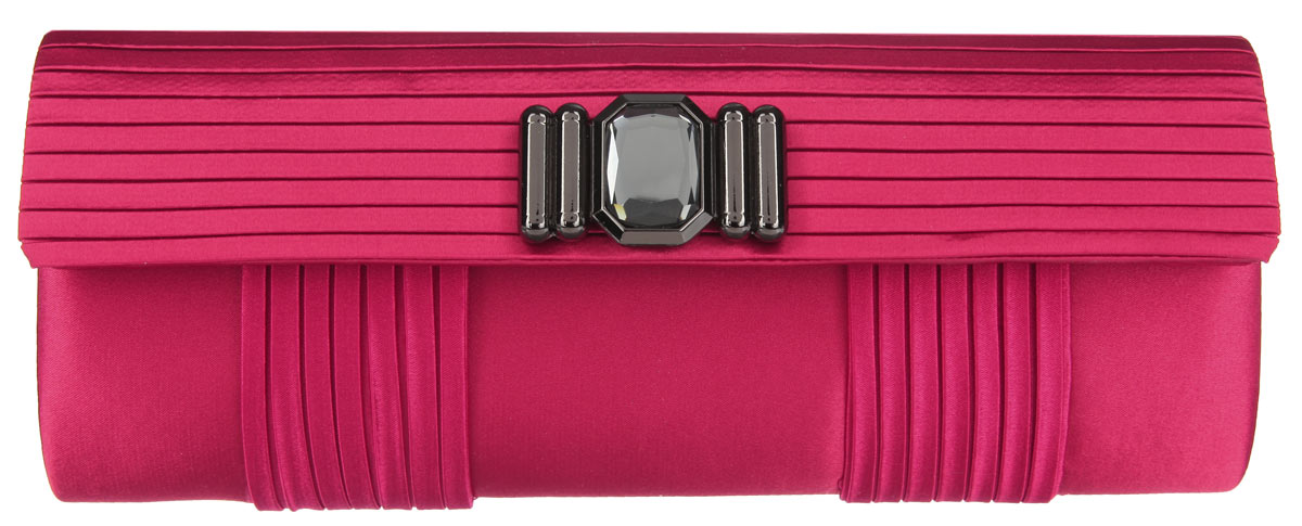 Клатч Fabretti, цвет: красный. WD71080-210931-1Элегантный вечерний клатч Fabretti выполнен из полиэстера. Клатч оформлен оригинальным элементом из стали, который дополнен сверкающим кристаллом.Изделие содержит одно отделение и закрывается клапаном на магнитную кнопку. Внутри расположен накладной карман. Клатч оснащен укороченным наплечным ремнем-цепочкой.Клатч Fabretti прекрасно завершит ваш праздничный образ.