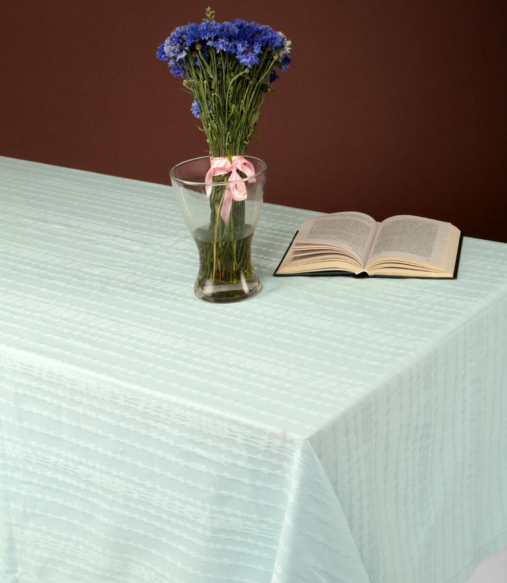 Скатерть Julia Vysotskaya, цвет: светло-бирюзовый, 160x 220 смVT-1520(SR)Великолепная скатерть Julia Vysotskaya, изготовленная из жаккарда, создаст атмосферу уюта и домашнего тепла в интерьере вашей кухни. Изделия из жаккарда уже давно стали известны всему миру не только своей прочностью и износостойкостью, но и элегантным, благородным внешним видом. Такой материал прослужит Вам не один десяток лет. Изделия имеют тефлоновое покрытие, можно поставить даже раскаленную сковороду и изделие останется целым. На всех изделиях коллекции есть не только логотип Julia Vysotskaya, но и сорока, которая является гербом поместья Юлии в Тоскане.Скатерть органично впишется в интерьер любого помещения, а оригинальный мотив удовлетворит даже самый изысканный вкус.В современном мире кухня - это не просто помещение для приготовления и приема пищи; это особое место, где собирается вся семья и царит душевная атмосфера. Кухня - душа вашего дома, поэтому важно создать в ней атмосферу уюта.