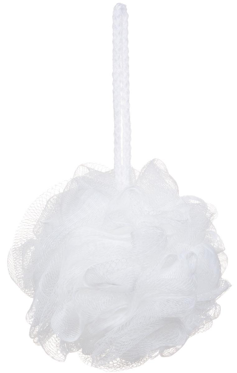 Riffi Мочалка-губка Массажный цветок, средняя, цвет: белый. 340 кисточка riffi перфект для сухой пудры малая 3971