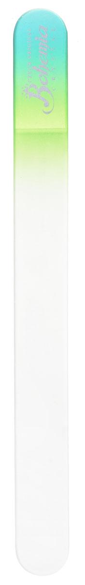 Bohemia Пилочка для ногтей, стеклянная, чехол из замши, цвет: бирюзово-салатовый. 1783VT-1799(VT)Стеклянная пилочка Bohemia подходит как для натуральных, так и для искусственных ногтей. Она прекрасно шлифует и придает форму ногтям. После пользования стеклянной пилочкой ногти не слоятся и не ломаются. При уходе за накладными ногтями во время работы ее рекомендуется периодически смачивать в воде. Поверхность стеклянной пилочки не поддается коррозии.К пилочке прилагается замшевый чехол.Материал пилочки: богемское стекло.