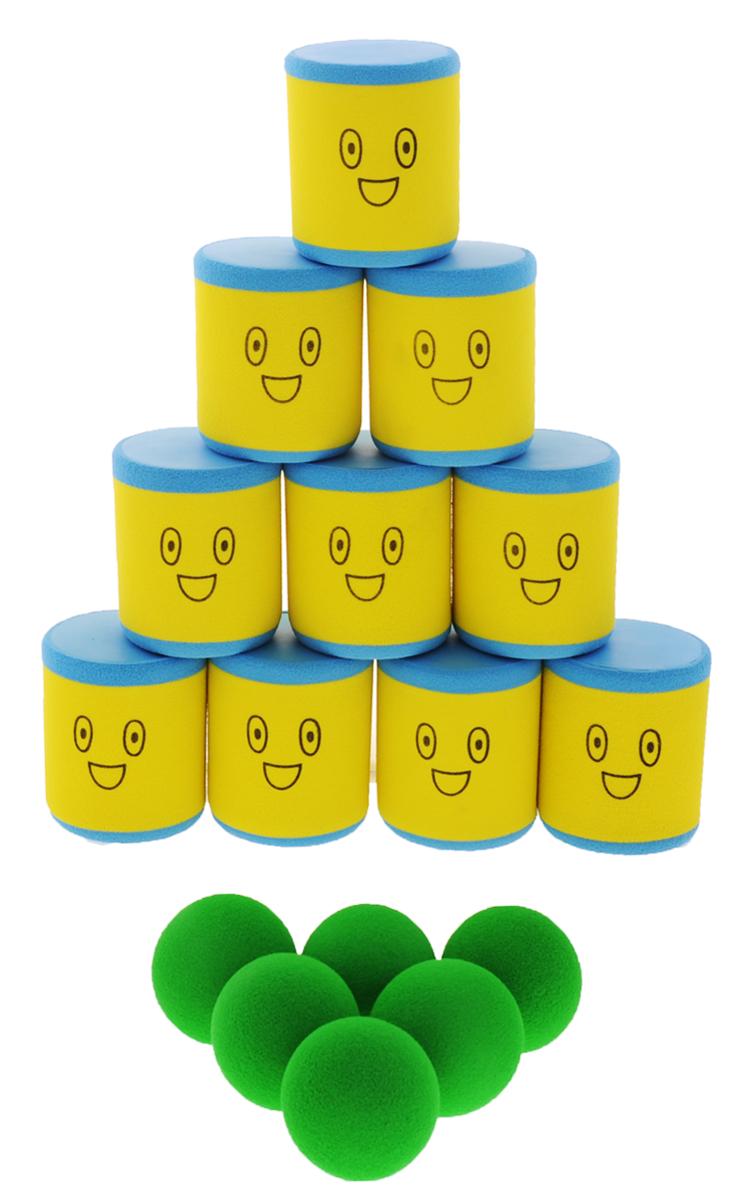 Safsof Игровой набор Городки цвет желтый голубой зеленый
