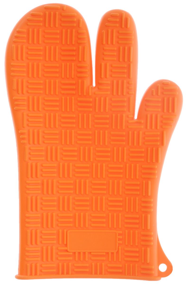 Прихватка-перчатка Mayer & Boch, силиконовая, цвет: оранжевый, 27 см х 17 смSVC-300Прихватка-перчатка Mayer & Boch изготовлена из прочного цветного силикона. Она способна выдерживать температуру от -60°C до +230°С. Эластична, износостойка, влагонепроницаема, легко моется, удобно и прочно сидит на руке. С помощью такой прихватки ваши руки будут защищены от ожогов, когда вы будете ставить в печь или доставать из нее выпечку.Можно мыть в посудомоечной машине.
