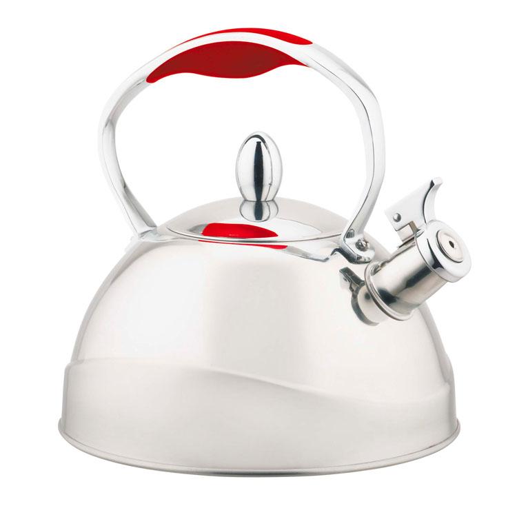 Чайник Mayer & Boch, со свистком, 3 л. 22410115610Чайник Mayer & Boch выполнен из высококачественной нержавеющей стали, что делает его весьма гигиеничным и устойчивым к износу при длительном использовании. Капсулированное дно с прослойкой из алюминия обеспечивает наилучшее распределение тепла. Носик чайника оснащен насадкой-свистком, что позволит вам контролировать процесс подогрева или кипячения воды. Фиксированная ручка дает дополнительное удобство при разлитии напитка. Поверхность чайника гладкая, что облегчает уход за ним. Эстетичный и функциональный, с эксклюзивным дизайном, чайник будет оригинально смотреться в любом интерьере.Подходит для всех типов плит, включая индукционные. Можно мыть в посудомоечной машине.Высота чайника (без учета ручки и крышки): 12 см.Высота чайника (с учетом ручки и крышки): 21 см.Диаметр чайника (по верхнему краю): 10 см.