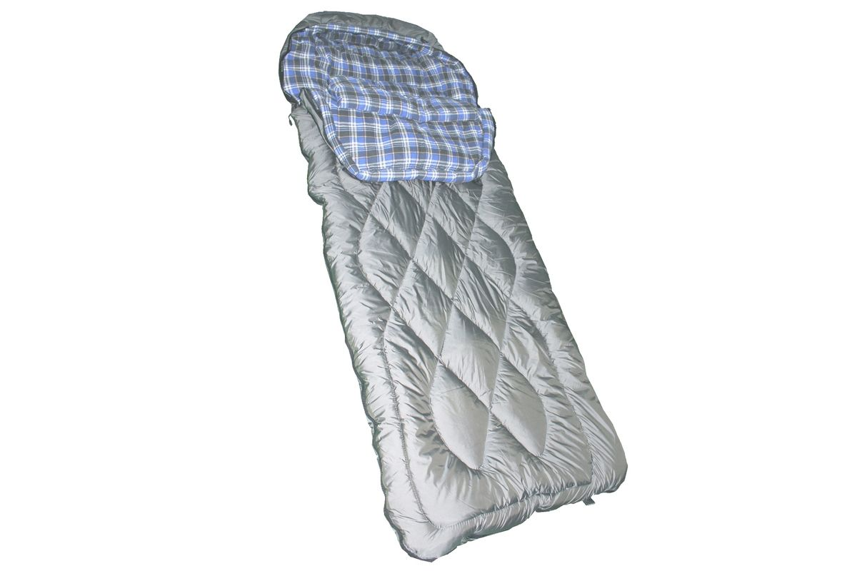 Спальный мешок Woodland Irbis 600, цвет: серый. 5468370348-RСпальный мешок Irbis 600 предназначен для туристов, любителей охоты, рыбалки и комфортного отдыха в холодное время года. Особенностью данной модели является его форма. Форма спального мешка Irbis 600 - одеяло, слегка зауженное снизу. Такая конструкция позволяет повысить теплосберегающие свойства спального мешка. Также, сохранению тепла способствуют капюшон анатомической формы, теплосберегающая планка, расположенная вдоль молнии и специальный теплосберегающий воротник. Внутренняя ткань спального мешка - мягкая фланель (100% хлопок), обеспечит комфорт в процессе эксплуатации. Благодаря специальной стежке, которая присутствует в данной модели, утеплитель в течение длительного времени не будет сбиваться и спальный мешок прослужит долго.Вес: 3,0 кг.