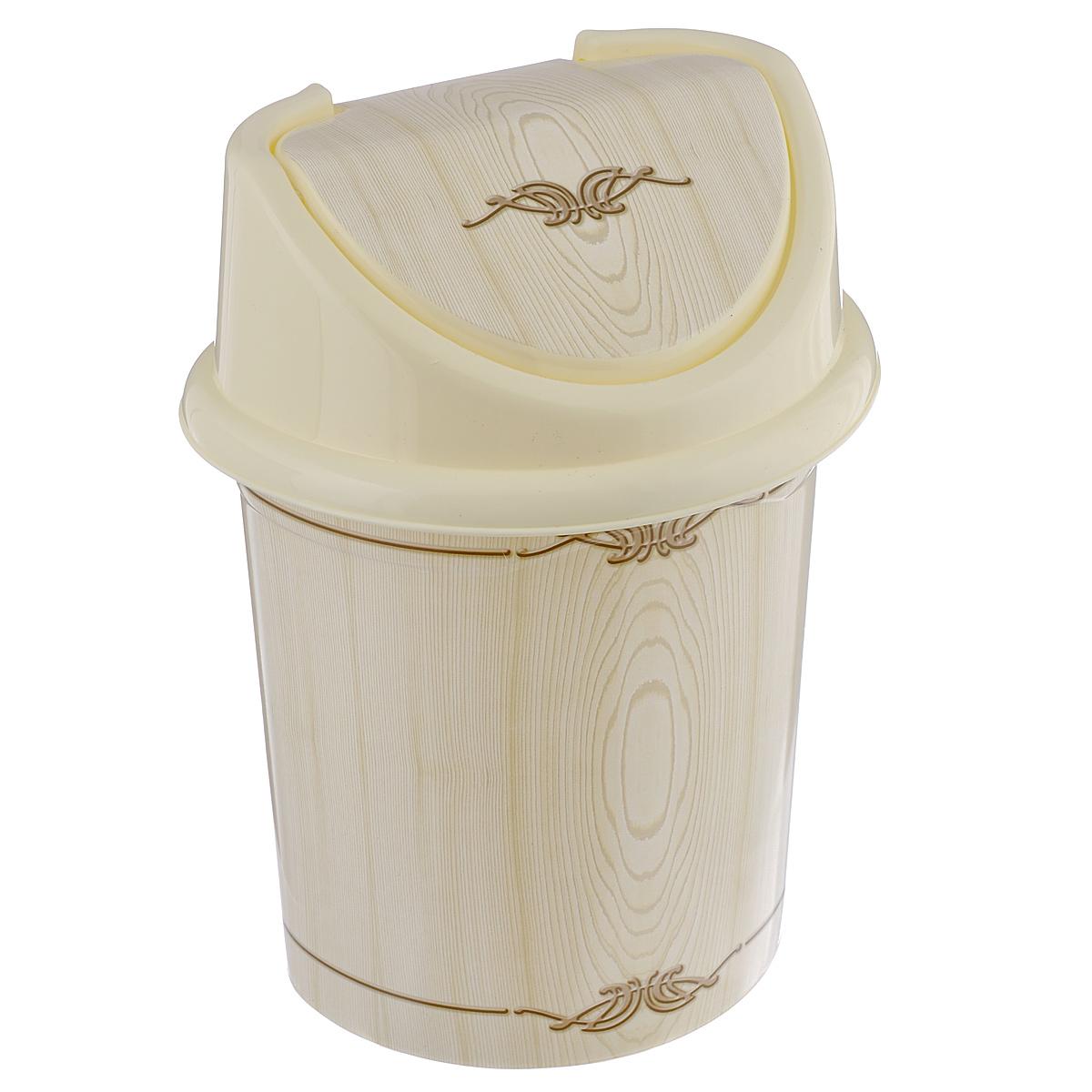 Контейнер для мусора Violet Беленый дуб, цвет: слоновая кость, коричневый, 8 лBL505Контейнер для мусора Violet Беленый дуб изготовлен из прочного пластика. Контейнер снабжен удобной съемной крышкой с подвижной перегородкой. В нем удобно хранить мелкий мусор. Благодаря лаконичному дизайну такой контейнер идеально впишется в интерьер и дома, и офиса.Размер изделия: 21 см x 26 см x 35,5 см.