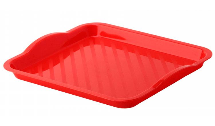 Поднос Idea, цвет: красный, 29 см х 25 смМ 1109Поднос Idea изготовлен из высококачественного полипропилена. Он станет незаменимым предметом для сервировки стола. Поднос не только дополнит интерьер вашей кухни, но и защитит поверхность стола от грязи и перегрева. Классический поднос Idea придется по вкусу и ценителям классики, и тем, кто предпочитает современный стиль.