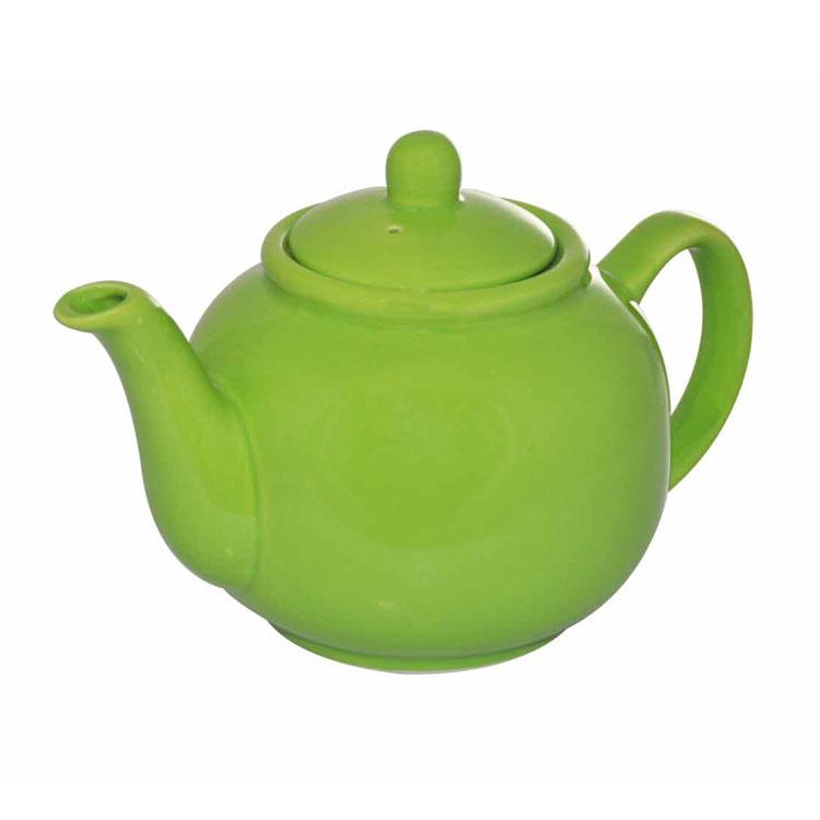 Чайник заварочный Loraine, цвет: ярко-зеленый, 940 млVT-1520(SR)Заварочный чайник Loraine изготовлен из высококачественной доломитовой керамики высокого качества без примеси ПФОК. Глазурованное покрытие делает поверхность абсолютно гладкой и легкой для чистки. Изделие прекрасно подходит для заваривания вкусного и ароматного чая, травяных настоев. Оригинальный дизайн сделает чайник настоящим украшением стола. Он удобен в использовании и понравится каждому.Диаметр чайника (по верхнему краю): 9 см. Высота чайника (без учета крышки): 11 см.