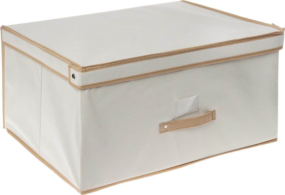 Чехол-коробка Cosatto, цвет: бежевый, белый, 60 х 45 х 30 см1004900000360Чехол-коробка Cosatto выполнен из полипропилена и предназначен для хранения вещей. Он защитит вещи от повреждений, пыли, влаги и загрязнений во время хранения итранспортировки. Чехол-коробка идеально подходит для хранения детских вещей и игрушек. Жесткий каркас из плотного толстогокартона обеспечивает устойчивость конструкции. В прозрачном кармашке на передней стенке чехла можно поместить бумажную этикетку с указаниемсодержимого чехла-коробки.