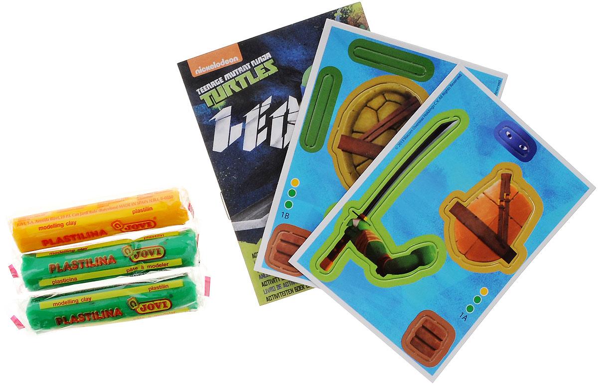 Giromax Набор для лепки Teenage Mutant Ninja Turtles Леонардо730396Набор для лепки Giromax Teenage Mutant Ninja Turtles: Леонардо позволит вашему ребенку создать поделку в виде черепашки Леонардо - персонажа популярного мультсериала Черепашки Ниндзя. Набор включает в себя три бруска пластилина (желтый и два зеленых), картонный лист с красочными элементами для оформления поделки, липучку для наклеивания элементов, а также брошюру с заданиями и инструкцией на русском языке.Работа с пластилином подарит вашему ребенку положительные эмоции, а также поможет развить мелкую моторику рук, внимательность и усидчивость.