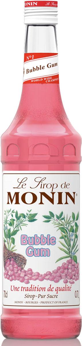 Monin Бабл Гам сироп, 0,7 л0120710Сиропы для кофе Monin выпускает одноименная французская марка, которая известна как лидирующий производитель алкогольных и безалкогольных сиропов в мире. В 1912 году во французском городке Бурже девятнадцатилетний предприниматель Джордж Монин основал собственную компанию, которая специализировалась на производстве вин, ликеров и сиропов. Место для завода было выбрано не случайно: город Бурже находился в непосредственной близости от крупных сельскохозяйственных районов — главных поставщиков свежих ягод и фруктов.Эксперты всего мира сходятся во мнении, что сиропы Monin — это законодатели мод в миксологии. Ассортимент французской марки на сегодняшний день является самым широким и насчитывает полторы сотни уникальных вкусовых решений. В каталоге компании можно найти как классические вкусы для кофейных напитков (шоколадный, ванильный, ореховый и другие сиропы), так и весьма экзотические варианты (сиропы со вкусом кокоса, зеленой мяты, тирамису, блю курасао, аниса, грейпфрута, пина колады и т. д.) Отметим, что все сиропы обладают мягкими, деликатными вкусоароматическими характеристиками, что говорит о натуральном составе продуктов.Этот смелый аромат Bubble Gum будет обольщать людей, желающих добавить оригинальность в своих напитках, впасть в детство и создавать новые вкусовые сочетания. Позвольте вашему воображению блуждать, чтобы создать удовольствие в ваших коктейлях, развлекать ваших детей и гостей с таким необычным вкусом напитков. Наслаждайтесь с сиропом Баббл Гам Монин!