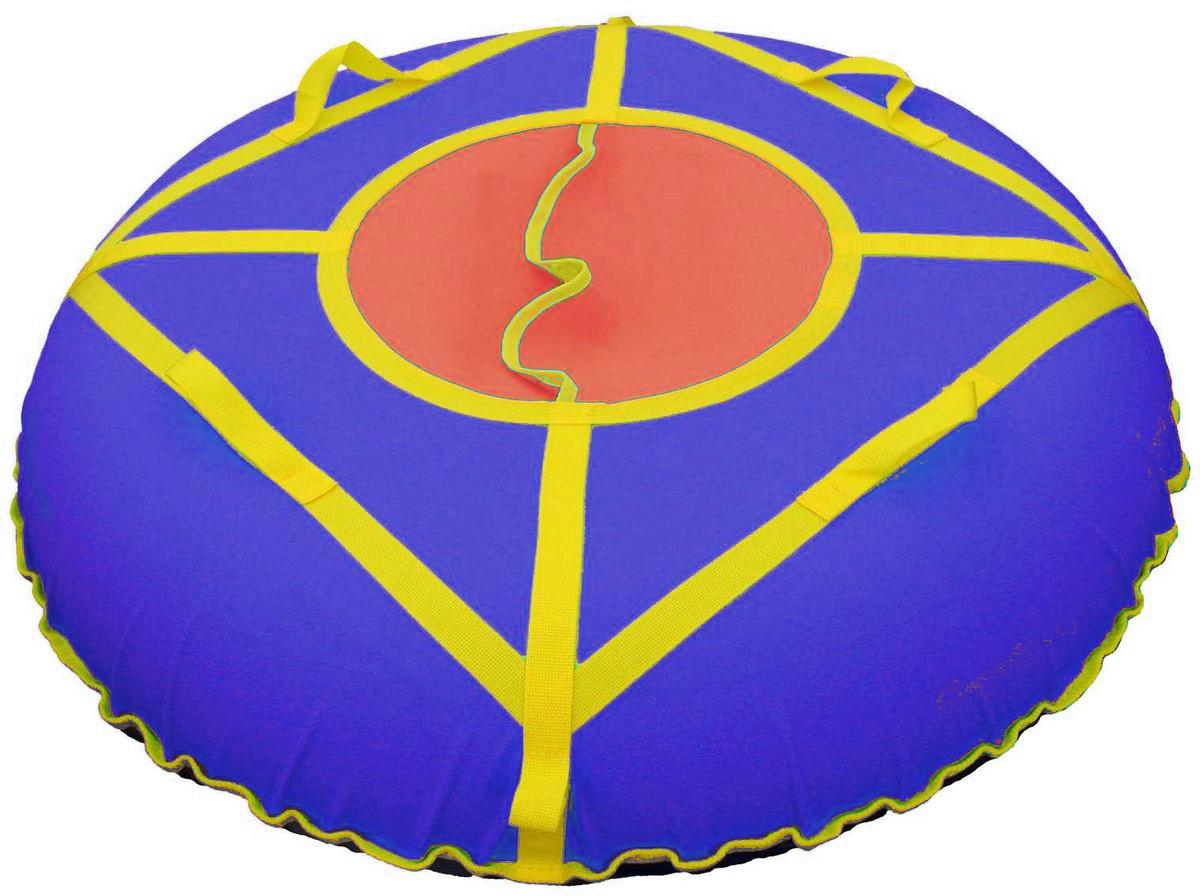Тюбинг Super Jet Tubing Ultra, цвет: красный, синий, желтый, диаметр 105 смASS-02 S/MТюбинг для взрослых Super Jet Tubing Ultra предназначен для зимнего катания.Центральный сектор защищает от попадания снега внутрь тюбинга и состоит из двух частей внахлест без дополнительных застежек.Верхняя часть изготовлена из водонепроницаемого материала Oxford 600D из полиамидных волокон с полиуретановой пропиткой и обладает высокой стойкостью к истиранию, сохраняя гибкость и легкость. Нижняя часть изготавливается из прочного южнокорейского тентового ПВХ плотностью 650 г/м2. Этот материал при достаточной плотности и стойкости к истиранию, обладает великолепными скользящими свойствами.Конструкция этой модели усилена с помощью 8 нейлоновых лент шириной 3 см, на которых расположены 4 мягкие нейлоновые ручки и 2 петли для крепления буксировочной ленты. Прилагается буксировочная нейлоновая лента шириной 3 см и длиной 1,2 метра из нейлона с двумя петлями по концам для крепления к тюбингу.Диаметр чехла в сдутом состоянии: 120 см.Диаметр тюбинга в надутом состоянии: 105 см.В комплекте усиленная камера из эластичной резины размером 9.0-20.Швы закрыты нейлоновой лентой для увеличения прочности на разрыв.Материал верхней части: водонепроницаемая ткань Oxford 600D PU. Материал нижней части: тентовый ПВХ плотностью 650 г/м2. Материал строп: нейлон. Материал камеры: резина.