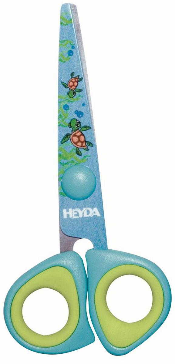 Heyda Ножницы детские цвет голубой салатовый14861Детские ножницы Heyda предназначены для детского творчества и художественно-оформительских работ.Лезвия выполнены из высококачественного нержавеющего металла. Облегченные пластиковые ручки с прорезиненными вставками адаптированы для детской руки. Ножницы имеют закругленный концы, что делает эксплуатацию безопасной.