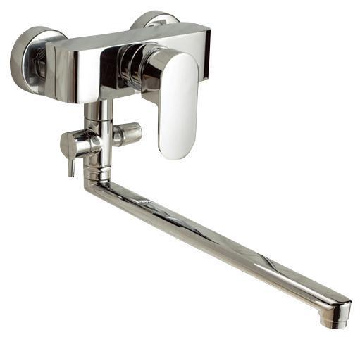 Смеситель для ванны/душа Gro Welle ДИ Mandarine. MDR722BL505Смеситель для ванны и душа Gro Welle Mandarin сочетает в себе отличные эксплуатационные характеристики и оригинальный дизайн. Керамический картридж Sedal 40 мм (Испания) - надежный рабочий элемент, выдерживающий давление более 3,5 Атм. Рассчитан на беспрерывную работу в 1500000 циклов - это примерно 30 лет эксплуатации. Аэратор Neoperl Cascade (США) изготовлен из высококачественного пластика, благодаря чему на нем не образуется налет. Водная струя насыщается воздухом, становится ровной и без брызг. Тело смесителя отлито из высококачественной, безопасной для здоровья пищевой латуни. Хромоникелевое покрытие Crystallight придает изделию яркий металлический блеск и эстетичный внешний вид. Имеет водоотталкивающие свойства, благодаря которым защищает тело смесителя. Устойчив к кислотным и щелочным чистящим средствам. Смеситель Gro Welle Mandarin эргономичен, прост в монтаже и удобен в использовании. В комплект входит: смеситель, набор для монтажа.Длина излива смесителя: 40 см.Гарантийный срок на смеситель (за исключением шлангов, резиновых сальников и прокладок) составляет 7 лет с момента продажи. Гарантийный срок на шланги, сальники и прокладки - 1 год.