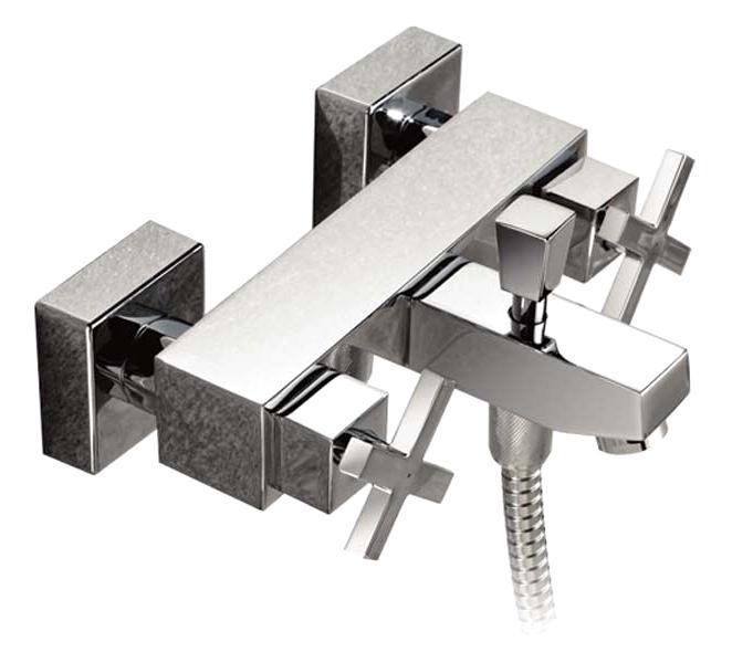Смеситель для ванны/душа Gro Welle Dusches. DUS72168/5/2Смеситель для ванны и душа Gro Welle Dusches сочетает в себе отличные эксплуатационные характеристики и оригинальный дизайн. Керамические кран-буксы Hunt (Испания) обеспечивают точную регулировку температуры воды за счет максимального поворота на 180°. Аэратор Neoperl Cascade (США) изготовлен из высококачественного пластика, благодаря чему на нем не образуется налет. Водная струя насыщается воздухом, становится ровной и без брызг. Тело смесителя отлито из высококачественной, безопасной для здоровья пищевой латуни. Хромоникелевое покрытие Crystallight придает изделию яркий металлический блеск и эстетичный внешний вид. Имеет водоотталкивающие свойства, благодаря которым защищает тело смесителя. Устойчив к кислотным и щелочным чистящим средствам. Включение душа происходит вытяжением кнопки, если давление воды падает ниже 0,3 бар, кнопка самостоятельно возвращается в первоначальное положение, и вода уже течет через излив смесителя. Смеситель Gro Welle Dusches эргономичен, прост в монтаже и удобен в использовании. В комплект входит: смеситель, набор для монтажа.Длина излива смесителя: 14,5 см.Гарантийный срок на смеситель (за исключением шлангов, резиновых сальников и прокладок) составляет 7 лет с момента продажи. Гарантийный срок на шланги, сальники и прокладки - 1 год.