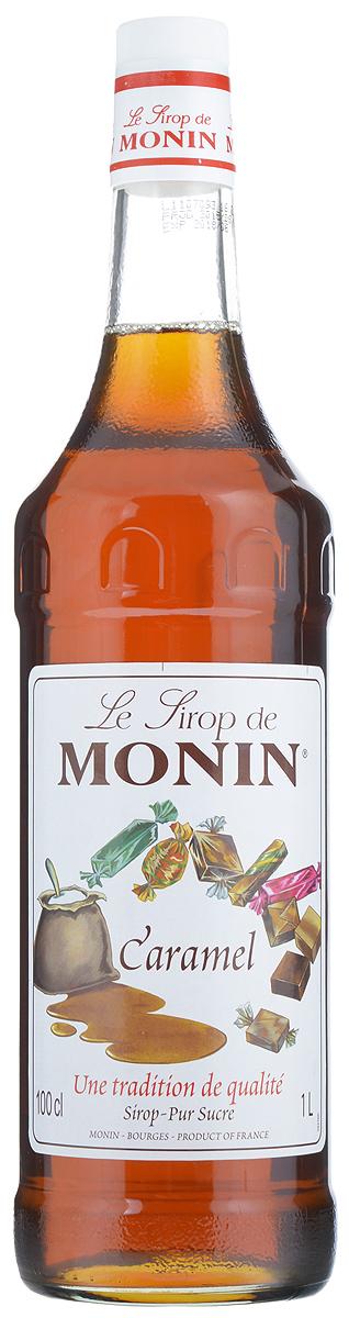 Monin Карамель сироп, 1 л0120710Сиропы Monin выпускает одноименная французская марка, которая известна как лидирующий производитель алкогольных и безалкогольных сиропов в мире. В 1912 году во французском городке Бурже девятнадцатилетний предприниматель Джордж Монин основал собственную компанию, которая специализировалась на производстве вин, ликеров и сиропов. Место для завода было выбрано не случайно: город Бурже находился в непосредственной близости от крупных сельскохозяйственных районов — главных поставщиков свежих ягод и фруктов. Эксперты всего мира сходятся во мнении, что сиропы Monin — это законодатели мод в миксологии. Ассортимент французской марки на сегодняшний день является самым широким и насчитывает полторы сотни уникальных вкусовых решений. В каталоге компании можно найти как классические вкусы для кофейных напитков (шоколадный, ванильный, ореховый и другие сиропы), так и весьма экзотические варианты (сиропы со вкусом кокоса, зеленой мяты, тирамису, блю курасао, аниса, грейпфрута, пина колады и т. д.) Отметим, что все сиропы обладают мягкими, деликатными вкусоароматическими характеристиками, что говорит о натуральном составе продуктов.Карамель просто означает карамелизированный сахар, традиционно получаемый с помощью плавления сахара в кастрюле с водой. Богатый вкус и цвет карамели вытекают из процесса нагревания и плавления сахара. Карамель ценится в качестве основного аромата, а также используется в гармонии с другими ароматами. С сиропом Monin Карамель возможны многочисленные приложения.