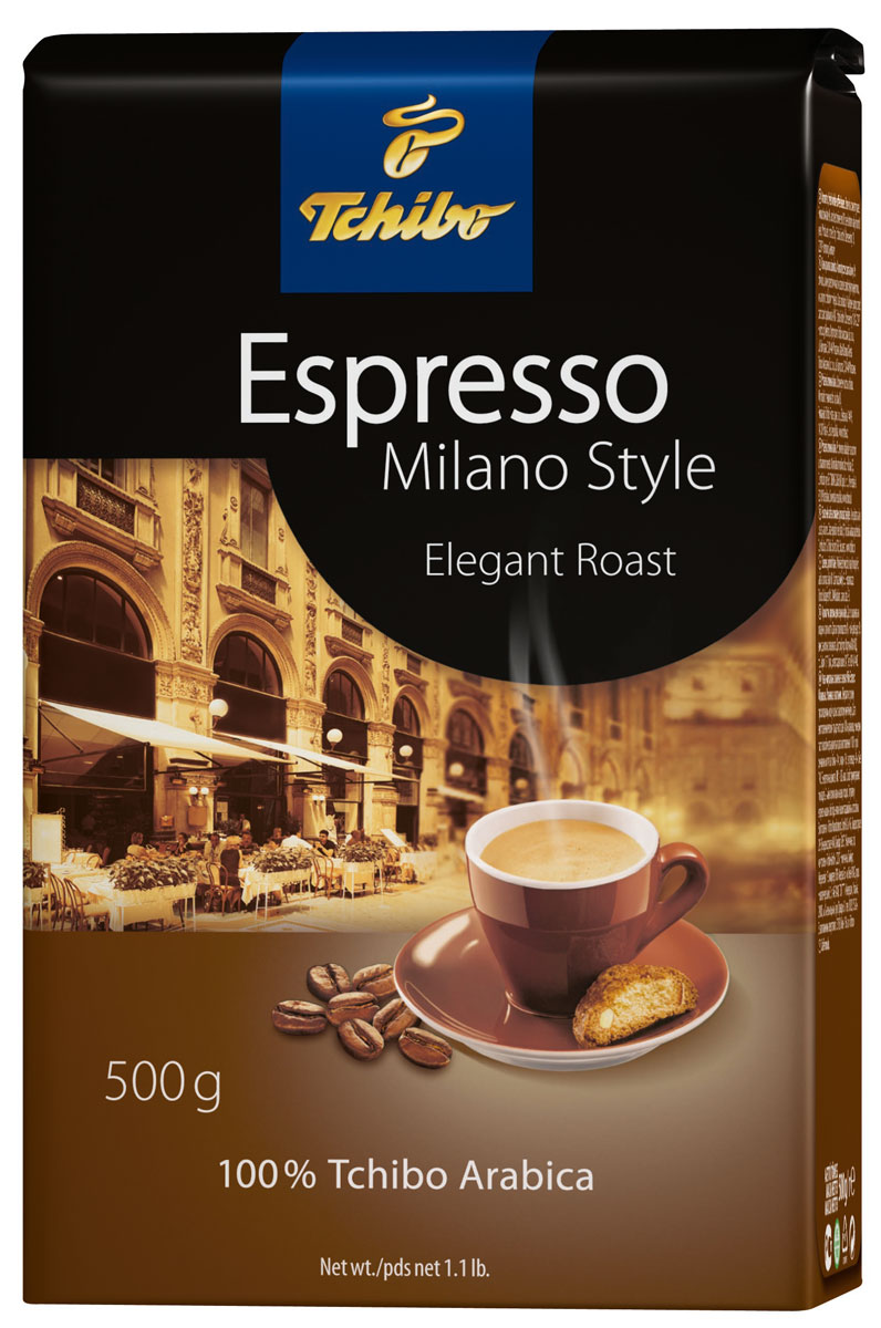 Tchibo Espresso Milano Style кофе в зернах, 500 г101246Tchibo Espresso Milano Style - превосходная смесь лучших зерен 100% Арабики, обжаренных особым методом деликатной обжарки в традициях северной части Италии, что раскрывает приятные фруктовые оттенки вкуса с легкими нотками темного шоколада и придает кофе нежную бархатную пенку.