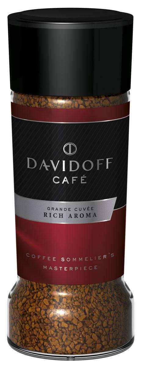 Davidoff Rich кофе растворимый, 100 г0120710Davidoff Cafe Rich Aroma - это восхитительное сочетание насыщенного вкуса с элегантной кислинкой, дополненное пикантными, легкими фруктовыми нотками. Для создания совершенной кофейной композиции используются только специально отобранные зерна сорта Арабика. Безупречное качество этого кофе покорит самых искушенных ценителей.