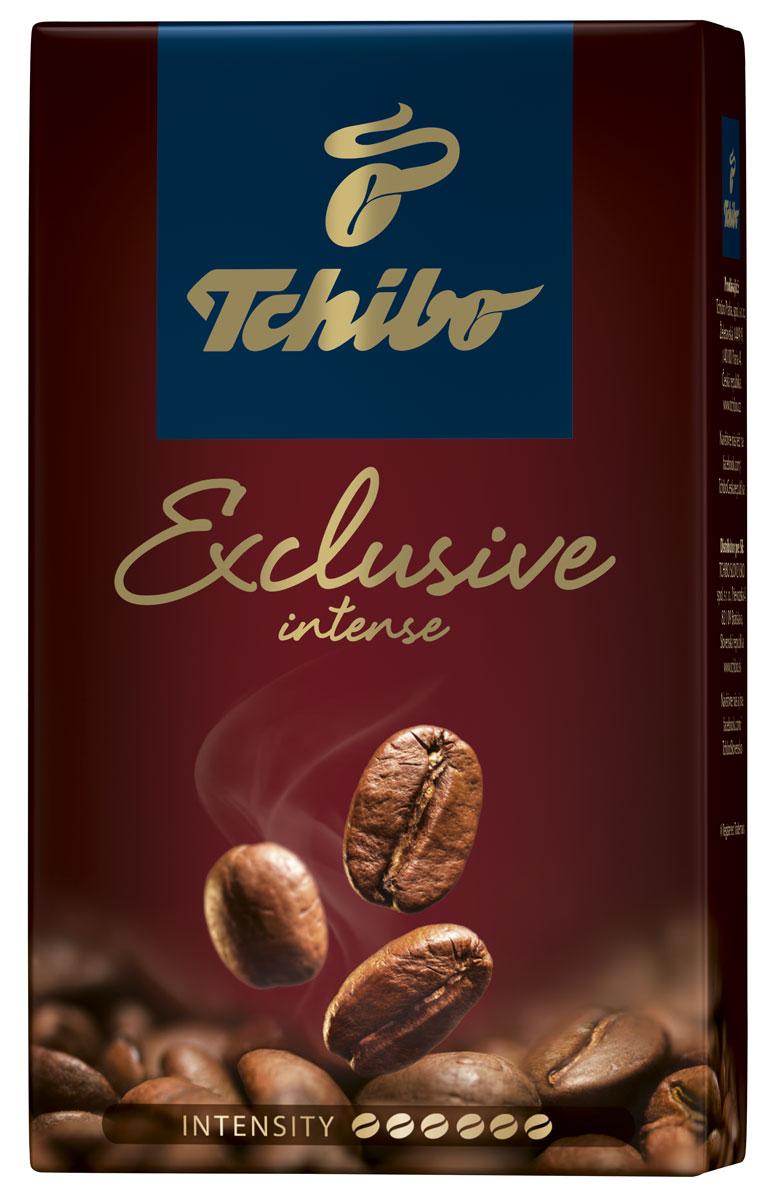 Tchibo Exclusive Intense кофе молотый, 250 г8057288870261Побалуйте себя и своих близких изысканным кофе Tchibo Exclusive Intense. Его богатый аромат и насыщенный вкус доставят вам непревзойдённое удовольствие. Для создания этого исключительного купажа эксперты Tchibo отбирают только лучшие зерна Арабики и дополняют их зернами насыщенной Робусты.