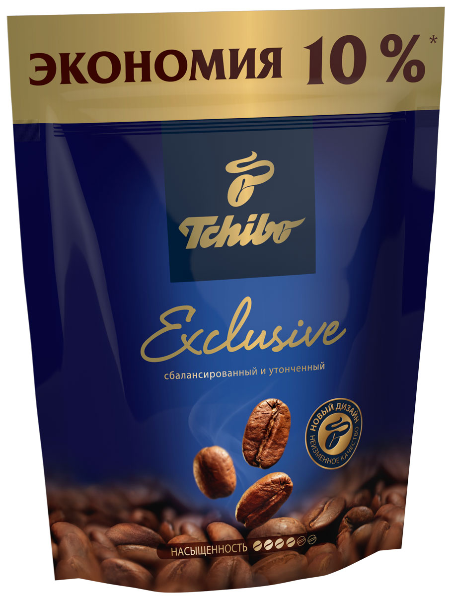Tchibo Exclusive кофе растворимый, 75 г0120710Побалуйте себя и своих близких изысканным кофе Tchibo Exclusive. Его богатый аромат и насыщенный вкус доставят вам непревзойдённое удовольствие. Для создания этого исключительного купажа эксперты Tchibo отбирают только лучшие зерна Арабики и дополняют их зернами насыщенной Робусты.