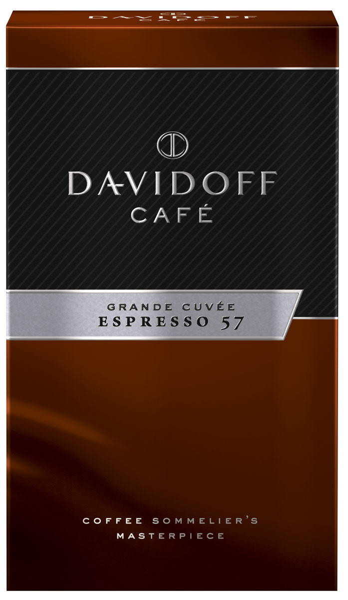 Davidoff 57 Espresso кофе молотый, 250 г0120710Отборные зерна арабики африканских, латиноамериканских и тихоокеанских сортов соединили, обжарили до нужной кондиции, и вот уже Davidoff Cafe Espresso 57 ожидает вашего внимания. Название Espresso 57 отсылает к особому процессу обжарки зерен, в котором долговременная обработка сочетается с тщательным контролем за температурным режимом. Лишь мастера кофейного искусства могут гарантировать высочайшее качество, и эксперты Davidoff именно такие. Результат — насыщенный, изысканный, богатый во всех отношениях роскошный кофе эспрессо.