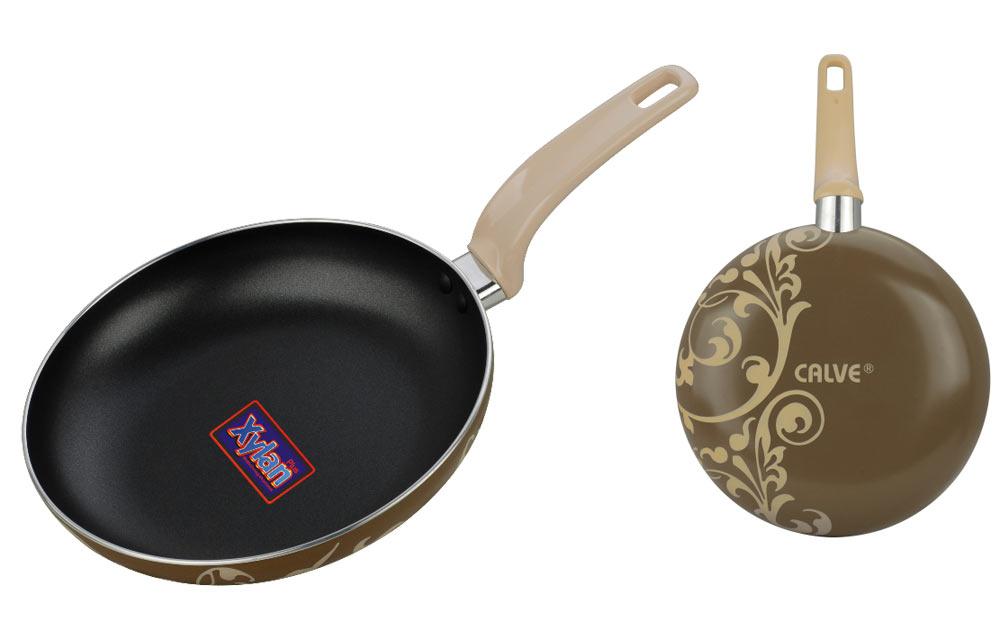 """Сковорода """"Calve"""", с антипригарным покрытием, цвет: черный, коричневый. Диаметр 24 см"""