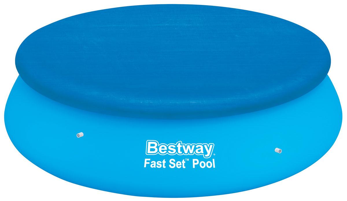 Bestway Тент для бассейнов с надувным бортом, диаметр 335 см. 58033RSP-202SТент Bestway подходит для бассейнов Fast Set диаметром 305 см. Выполнен из высококачественного полиэтилена. В комплекте шнуры для крепления крышки. Сливные отверстия предотвращают скопление воды.Диаметр тента: 335 см.Диаметр бассейна: 305 см.