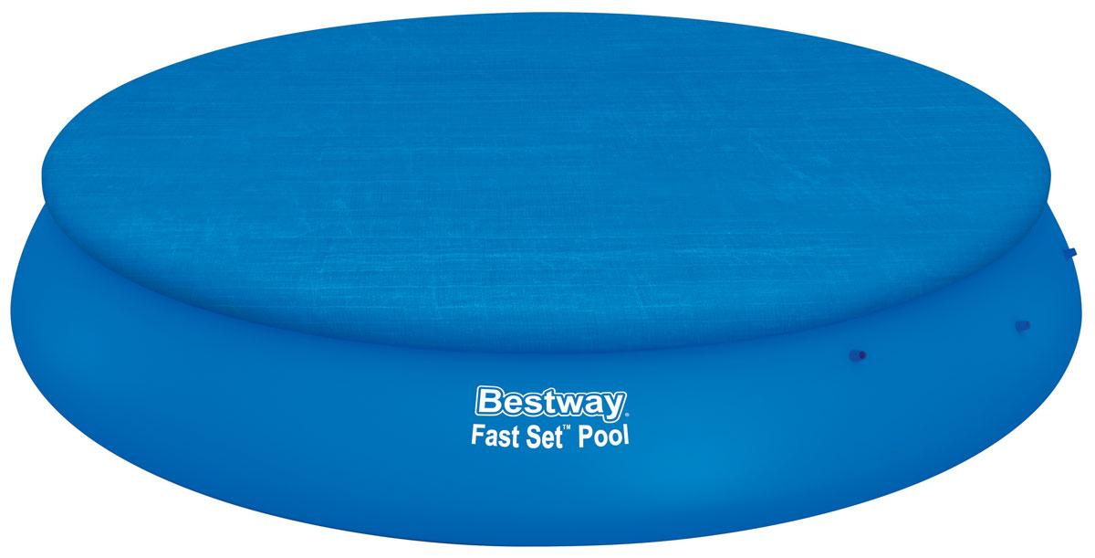Bestway Тент для бассейнов с надувным бортом, диаметр 495 см. 58035IRK-503Тент Bestway подходит для бассейнов Fast Set диаметром 475 см. Выполнен из высококачественного полиэтилена. В комплекте шнуры для крепления крышки. Сливные отверстия предотвращают скопление воды.Диаметр тента: 495 см.Диаметр бассейна: 475 см.