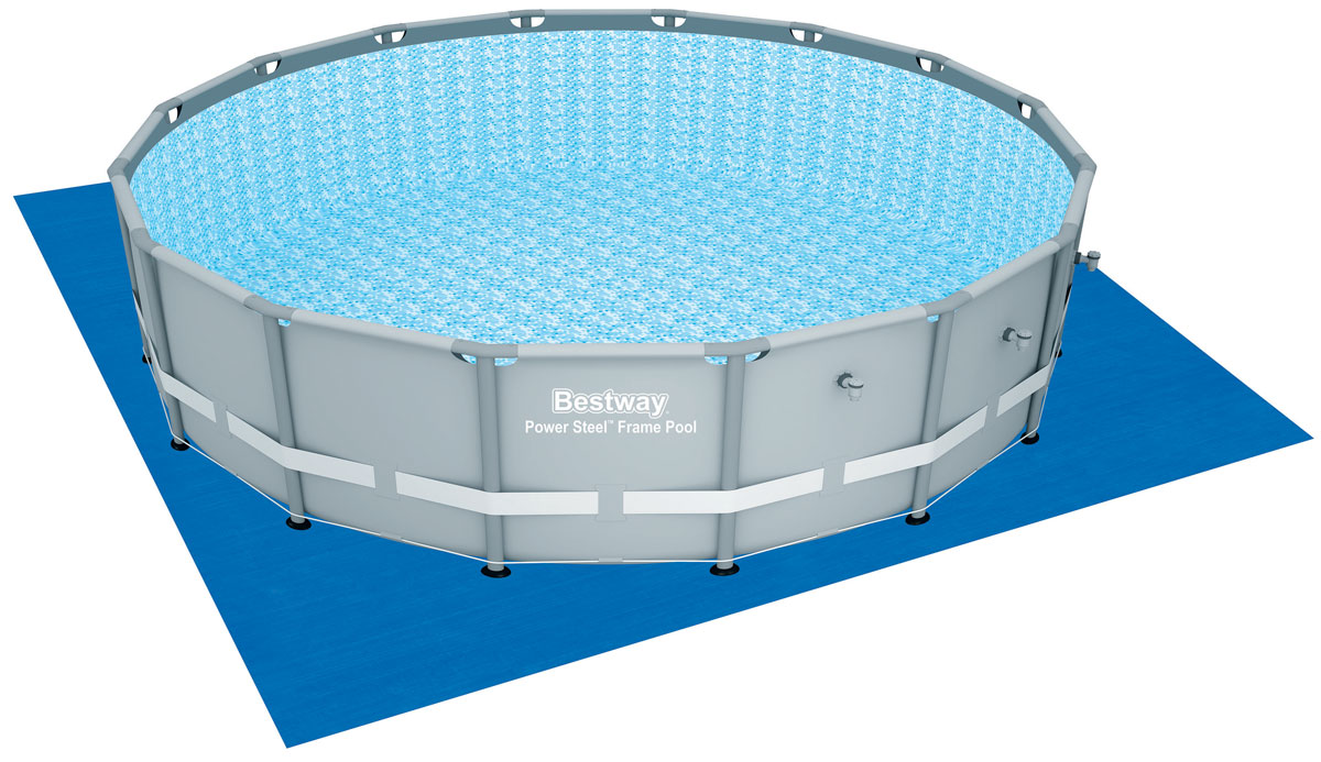 Bestway Подстилка для бассейнов, 520 х 520 см. 5825109840-20.000.00Подстилка Bestway подходит для бассейнов со стальной рамой Power Steel диаметром 488 см. Выполнена из нового износостойкого материала. Подстилка отлично защищает дно бассейна.Размер подстилки: 520 х 520 см.Диаметр бассейна: 488 см.