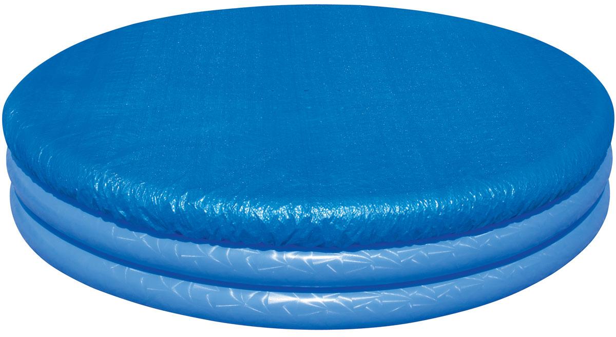 Bestway Тент для детских бассейнов, диаметр 211 см. 58302AS 25Тент Bestway подходит для бассейнов диаметром от 150 до 170 см. Выполнен из высококачественного полиэтилена. В комплекте шнуры для крепления крышки. Сливные отверстия предотвращают скопление воды.Диаметр тента: 211 см.Диаметр бассейна: 150-170 см.