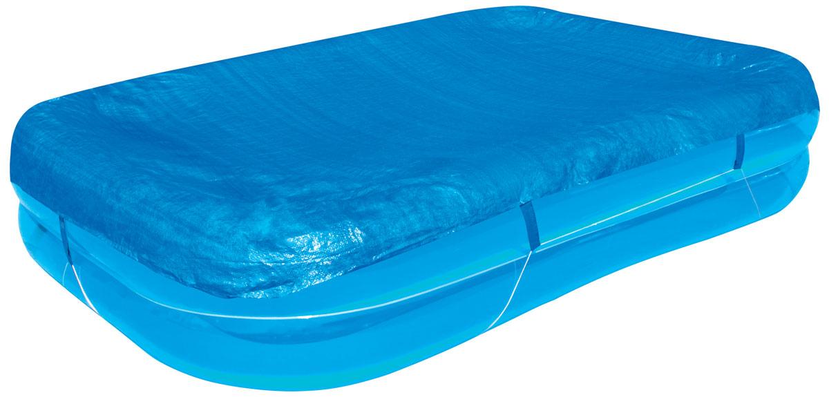 Bestway Тент для прямоугольных надувных бассейнов, 295 х 220 см. 58319C0038550Тент Bestway подходит для прямоугольного семейного бассейна размером 262 х 175 х 50,5 см. Выполнен из высококачественного полиэтилена. В комплекте шнуры для крепления крышки. Сливные отверстия предотвращают скопление воды.Размер тента: 295 х 220 см.Размер бассейна: 262 х 175 х 50,5 см.