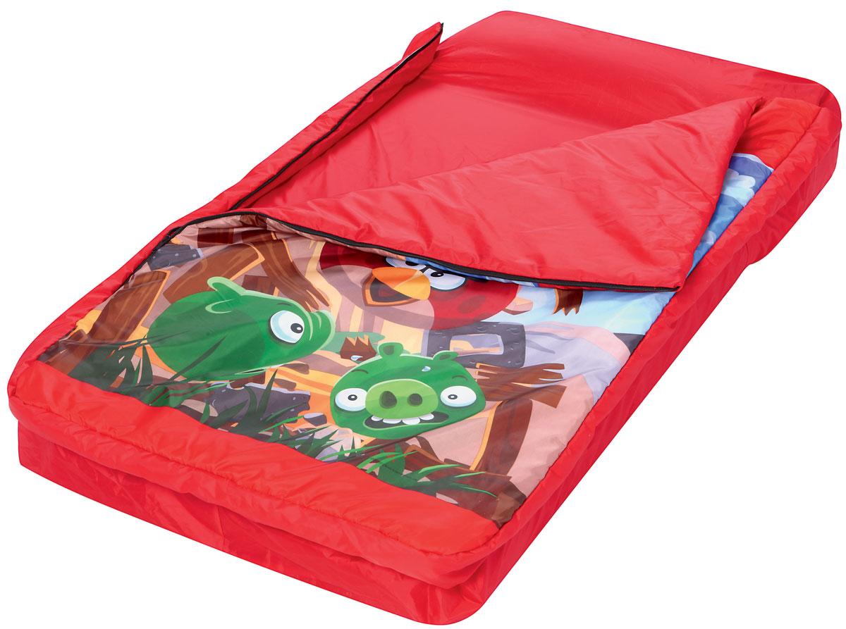 Bestway Кровать надувная Angry Birds, со спальным мешком. 9611496114Кровать надувная Bestway Angry Birds проста в использовании, очень комфортная, не занимает много места при хранении.Кровать выполнена из прочного, испытанного винила. Быстро надувается и сдувается. Кровать имеет удобную флокированную поверхность для сна и встроенную подушку. Надувная кровать и спальный мешок могут быть использованы совместно или по отдельности. Спальный мешок изготовлен из 100 % полиэстера. Отлично подходит для использования в помещении. Спальный мешок украшен знаменитыми героями из игры Angry Birds.В комплект также входит прочная заплата для ремонта.